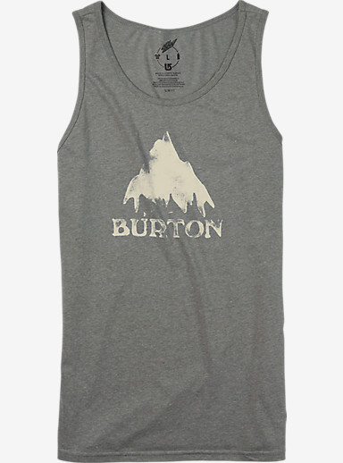 Burton Stamped Mountain Recycled Tank shown in Gray Heather