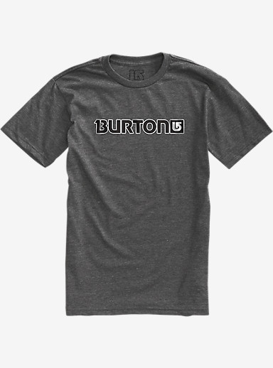 Burton Logo Horizontal Short Sleeve T Shirt shown in Charcoal