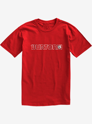 Burton Logo Horizontal Short Sleeve T Shirt shown in Fiery Red