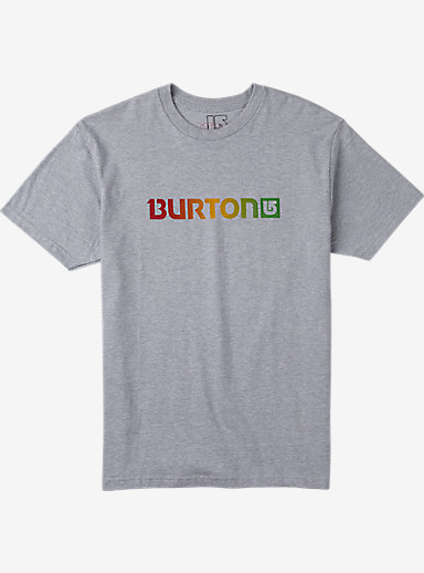 Burton Logo Horizontal Short Sleeve T Shirt shown in Gray Heather