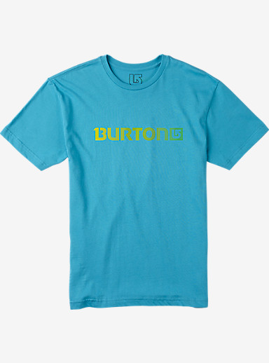 Burton Logo Horizontal Short Sleeve T Shirt shown in Turquoise