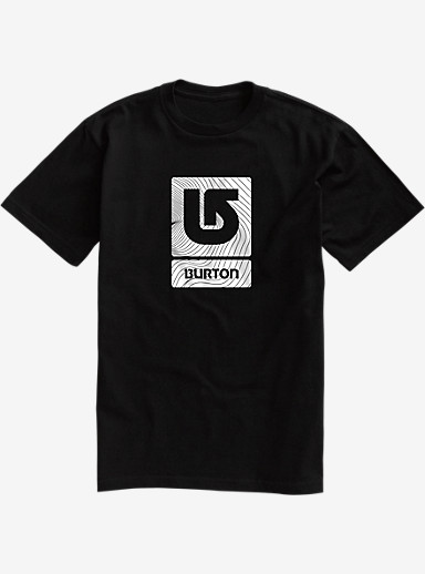 Burton Logo Vertical Fill Short Sleeve T Shirt shown in True Black