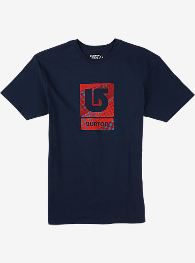 Burton Logo Vertical Fill Short Sleeve T Shirt shown in Midnight