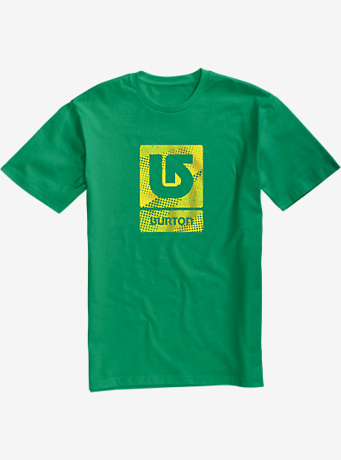 Burton Logo Vertical Fill Short Sleeve T Shirt shown in Kelly Green