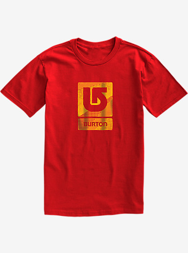 Burton Logo Vertical Fill Short Sleeve T Shirt shown in Fiery Red