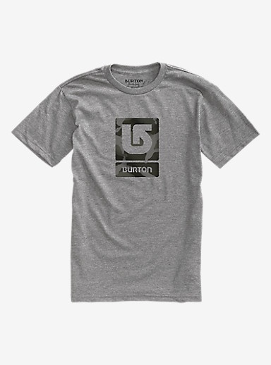 Burton Logo Vertical Fill Short Sleeve T Shirt shown in Gray Heather