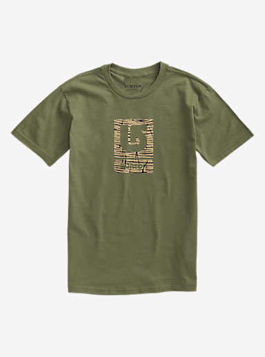 Burton Logo Vertical Fill Short Sleeve T Shirt shown in Olive Branch