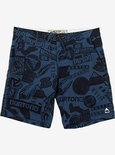 Burton Moxie Boardshort shown in Dark Denim Sticker Print
