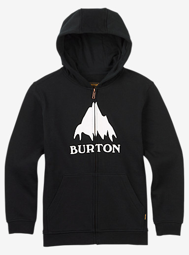 Burton Classic Mountain Full-Zip Hoodie shown in True Black