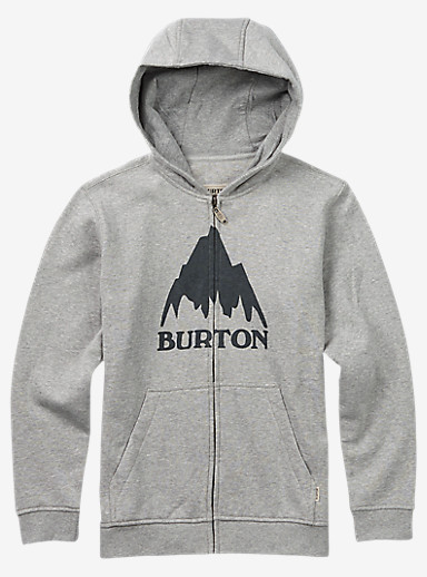 Burton Classic Mountain Full-Zip Hoodie shown in Gray Heather