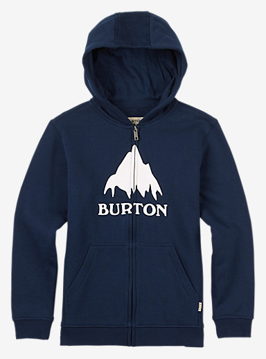 Burton Classic Mountain Full-Zip Hoodie shown in Eclipse