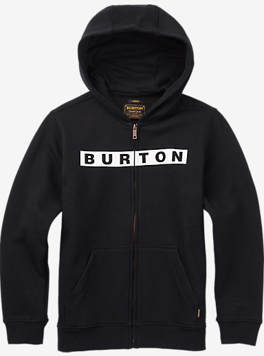 Burton Boys' Vault Full-Zip Hoodie shown in True Black