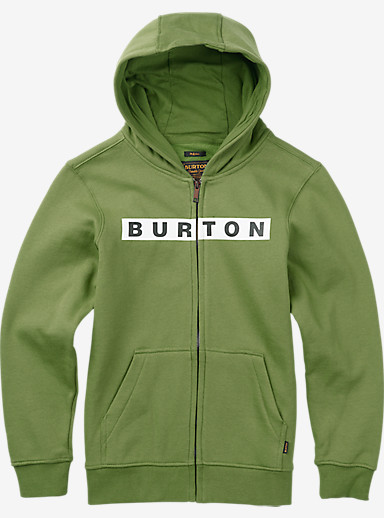 Burton Boys' Vault Full-Zip Hoodie shown in Green Tea