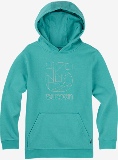 Burton Boys' Logo Vertical Pullover Hoodie shown in Eventide