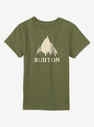 Burton Classic Mountain Short Sleeve T Shirt shown in Olive Branch
