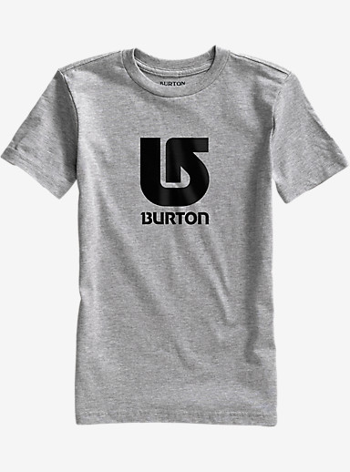 Burton Boys' Logo Vertical Short Sleeve T Shirt shown in Gray Heather