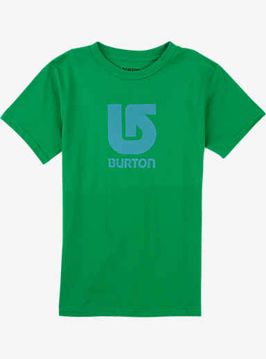 Burton Boys' Logo Vertical Short Sleeve T Shirt shown in Kelly Green