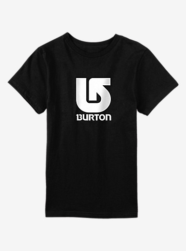 Burton Logo Vertical Short Sleeve T Shirt shown in True Black