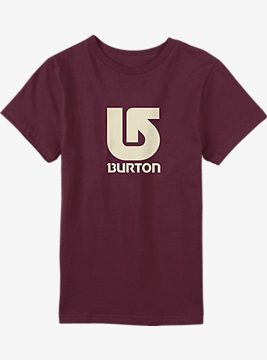 Burton Logo Vertical Short Sleeve T Shirt shown in Wino
