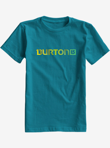 Burton Boys' Logo Horizontal Short Sleeve T Shirt shown in Enamel Blue