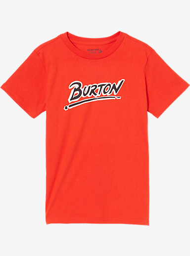 Burton Boys' Big Up Short Sleeve T Shirt shown in Red