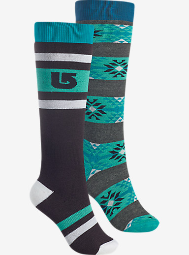 Burton Women's Weekend Sock 2 Pack shown in True Black