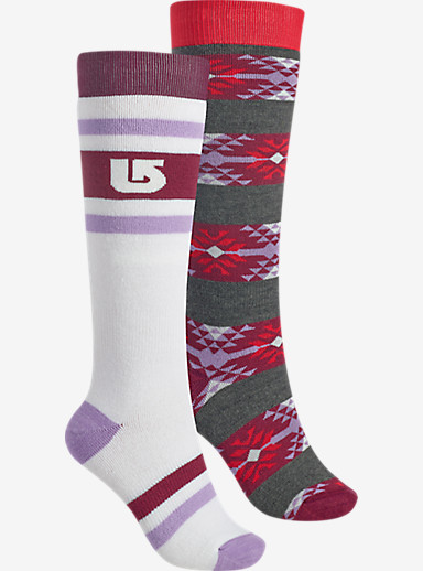Burton Women's Weekend Sock 2 Pack shown in Stout White