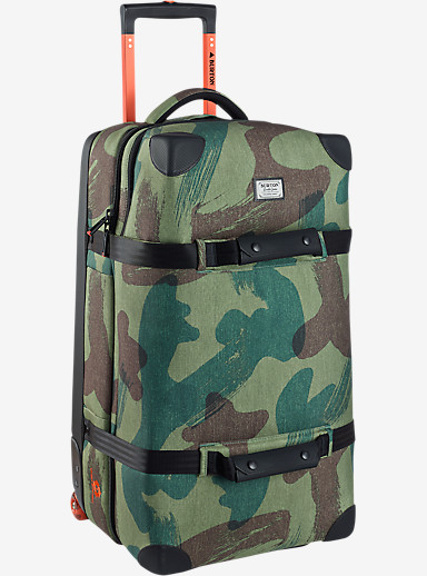 Burton Wheelie Flight Deck Travel Bag shown in Denison Camo