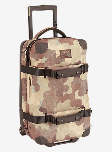 Burton Wheelie Flight Deck Travel Bag shown in Storm Camo Print