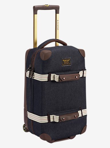 Burton Wheelie Flight Deck Travel Bag shown in Denim