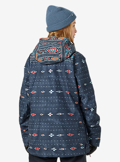 Burton [ak] 2L Elevation Anorak Jacket shown in Floral Ikat / Botanikat