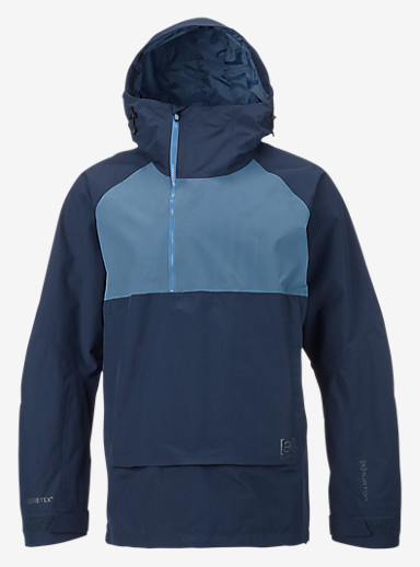 Burton [ak] 2L Velocity Anorak shown in Eclipse / Washed Blue