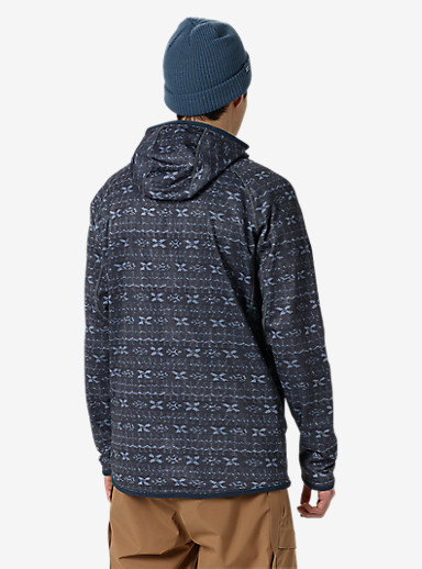 Burton [ak] Piston Hoodie shown in Washed Blue Indoindigo