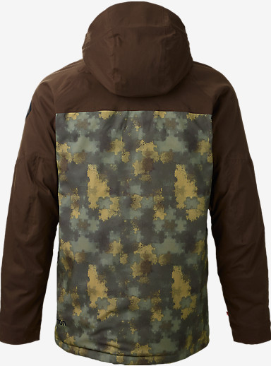Burton Caliber Jacket shown in Saw Camo / Mocha Block
