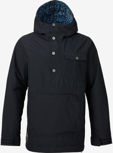 Burton Sawyer Anorak Jacket shown in True Black