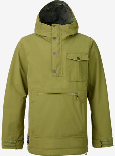 Burton Sawyer Anorak Jacket shown in Algae