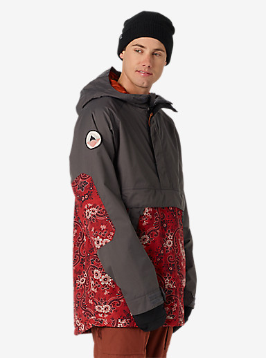 Burton Rambler Anorak Jacket shown in Faded / Bandana Dragon