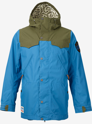 Burton Folsom Jacket shown in Glacier Blue / Keef
