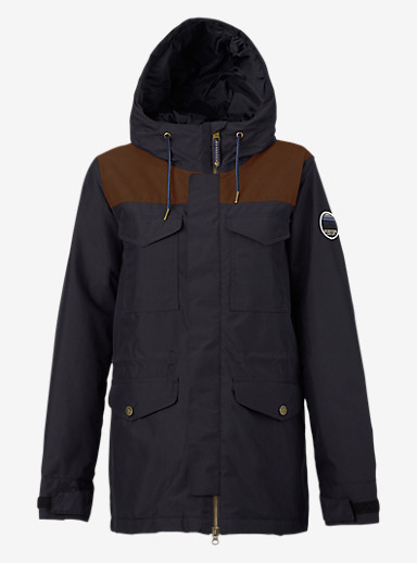 Burton Fremont Jacket shown in True Black / True Black Waxed