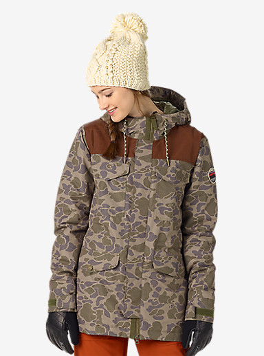 Burton Fremont Jacket shown in Petal Camo / Brown Leather