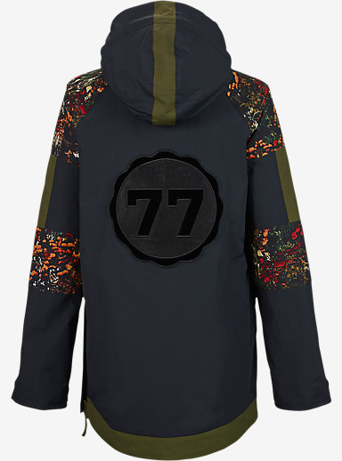 Burton Cinder Anorak Jacket shown in True Black / Acid Flora / Keef