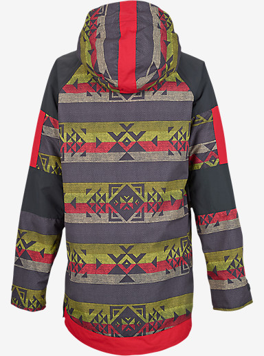 Burton Cinder Anorak Jacket shown in Tropic Banded Geo