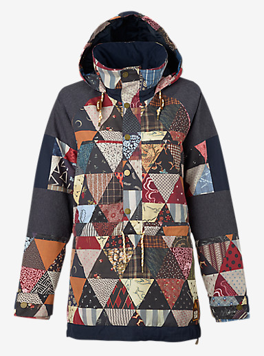 Burton Cinder Anorak Jacket shown in Kalidaquilt / Mood Indigo