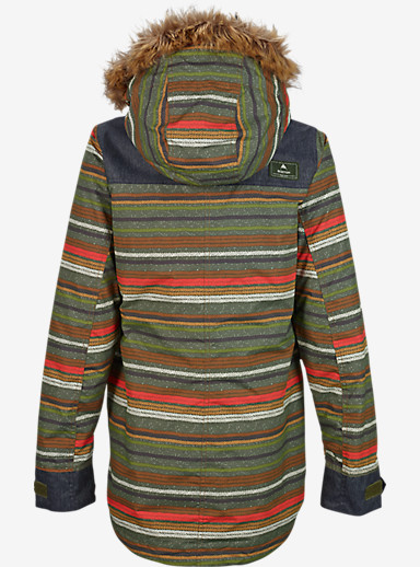Burton Hazel Jacket shown in Blanket Stripe [bluesign® Approved]