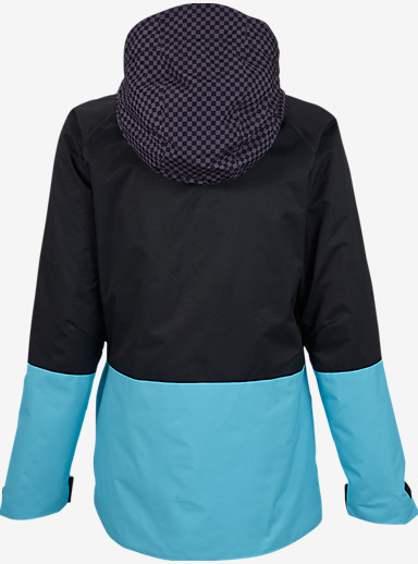 Burton Radar Jacket shown in Mini Checkerboard / True Black / Ultra Blue [bluesign® Approved]