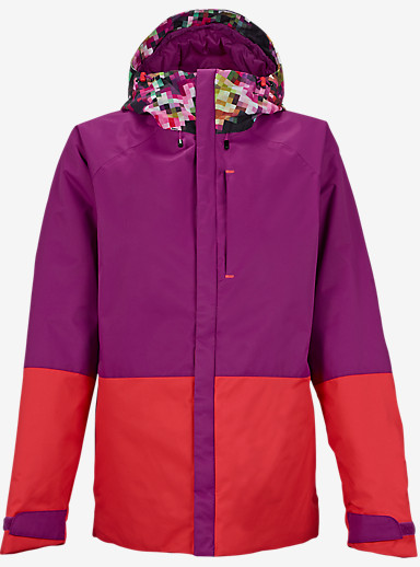 Burton Radar Jacket shown in Pixel Floral / Grapeseed / Tropic [bluesign® Approved]