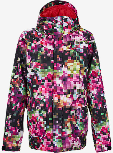 Burton Cadence Jacket shown in Pixel Floral [bluesign® Approved]