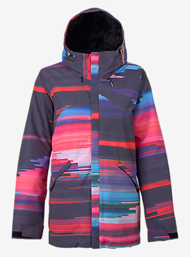 Burton Cadence Jacket shown in Coral Flynn Glitch