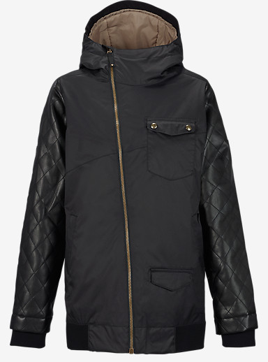 Burton TWC Maverick Jacket shown in True Black / Black Leather
