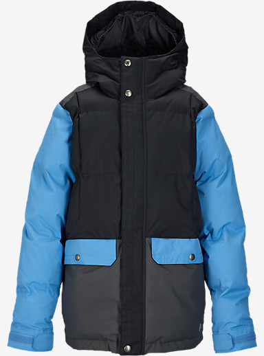 Burton Boys' Tundra Puffy Jacket shown in True Black Block [bluesign® Approved]